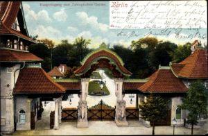 Ak Berlin Charlottenburg, Zoologischer Garten, Haupteingang, Vogelschau