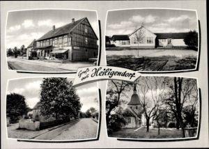Ak Heiligendorf Wolfsburg in Niedersachsen, Geschäft, Kirche, Schule, Probeabzug Stramm & Co.
