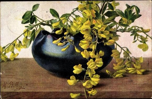 Künstler Ak Billing, M., Blumentopf
