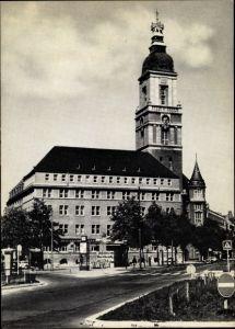 Ak Berlin Schöneberg, Rathaus Friedenau, Breslauer Platz