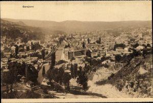 Ak Sarajevo Bosnien Herzegowina, Panorama vom Ort