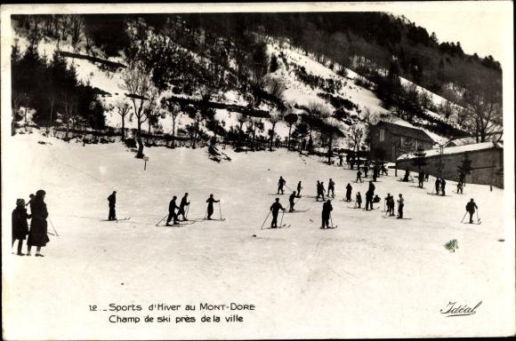 Ak Le Mont Dore Puy de Dôme, Sports d'Hiver, Champ de ski pres de la ville