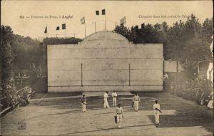 Ak Anglet Pyrénées Atlantiques, Fronton du Brun, Chiquito das une partie de Pelote