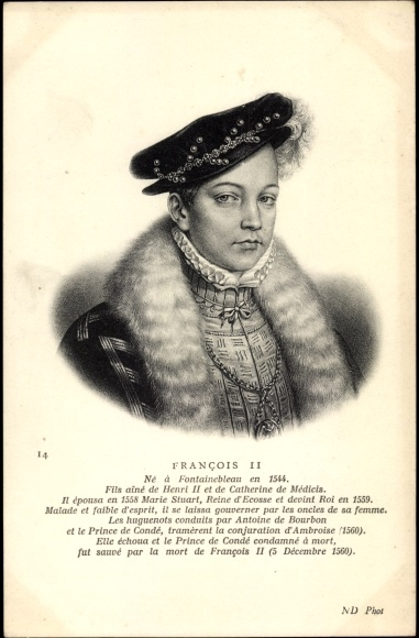 Künstler Ak Francois II, König von Frankreich, Portrait