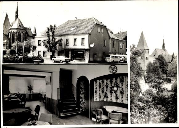 Ak Ense im Sauerland Kreis Soest, Kirche, Laden, Gasthaus, Innenansicht, VW T1 Bulli