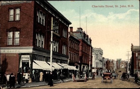 Ak Saint John's Neufundland und Labrador Kanada, Charlotte Street