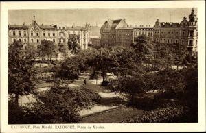 Ak Katowice Kattowitz Schlesien, Place de Miarka, Platz