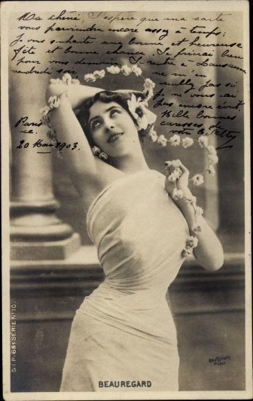 Ak Schauspielerin? Beauregard, Portrait