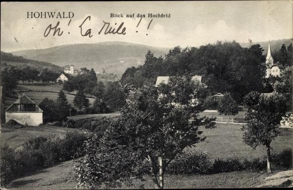 Ak Le Hohwald Elsass Bas Rhin, Blick auf das Hochfeld