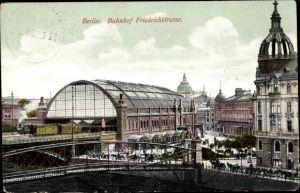 Ak Berlin, Friedrichstraße, Bahnhof