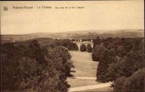 Ak Ardenne Houyet Wallonien Namur, Le Château, Vue prise de la Tour Léopold