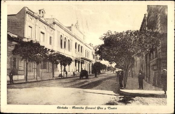 Ak Córdoba Argentinien, Avenida General Paz y Teatro