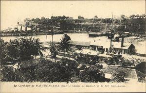 Ak Fort de France Martinique, Le Carenage, bassin de Radoub, fort Saint Louis