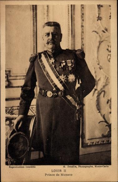 Ak Prinz Louis II von Monaco