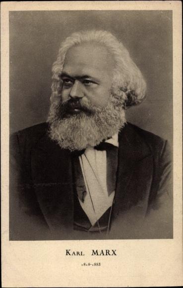 Ak Philosoph, Nationalökonom und Gesellschaftstheoretiker Karl Marx