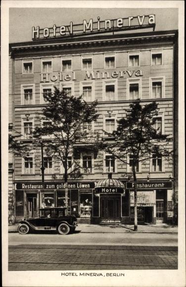 Ak Berlin Kreuzberg, Hotel Minerva, Königgrätzer Straße 107