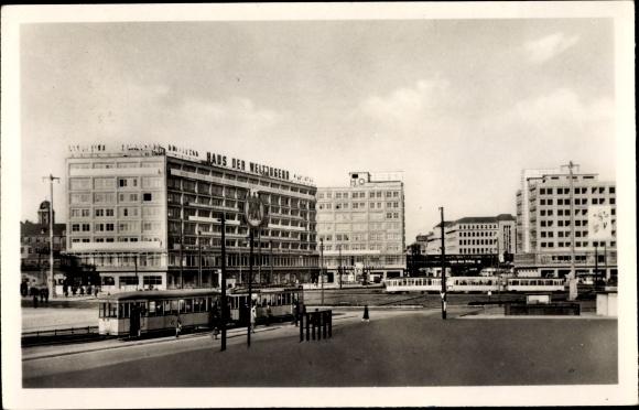 Ak Berlin, Alexanderplatz, Haus der Weltjugend