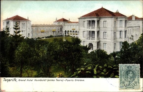 Ak Taoro Puerto Orotava Teneriffa Kanarische Inseln Spanien, Grand Hotel Humboldt