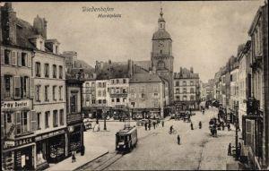 Ak Thionville Diedenhofen Lothringen Moselle, Marktplatz