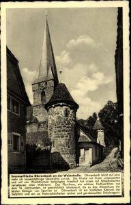 Ak Dörrenbach Rheinland Pfalz, Sommerfrische, Kirche, Pfarrhaus