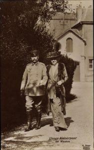 Ak Kaiser Wilhelm II., Kaiserin Auguste Viktoria, Portrait
