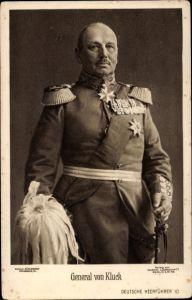 Ak Generaloberst Alexander von Kluck, Portrait, Uniform, Orden