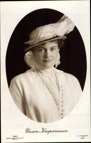 Ak Prinzessin Joachim von Preußen, Portrait, Hut