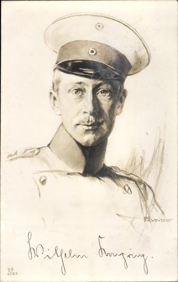 Künstler Ak Kronprinz Wilhelm von Preußen, Portrait