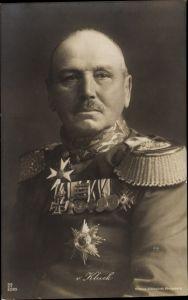 Ak Generaloberst Alexander von Kluck, Portrait, Orden