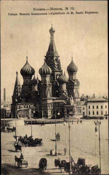 Ak Moskau Russland, Cathédrale de St. Basile Blajennoy