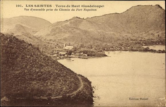 Ak Les Saintes Terre de Haut Guadeloupe, Vue prise du Chemin du Fort Napoleon