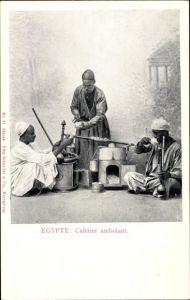 Ak Ägypten, Cafetier ambulant, Kaffeehändler