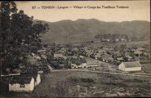 Ak Tonkin Vietnam, Villages et Camps des Tirailleurs Tonkinois