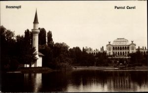 Ak București Bukarest Rumänien, Parcul Carol, Parkanlage