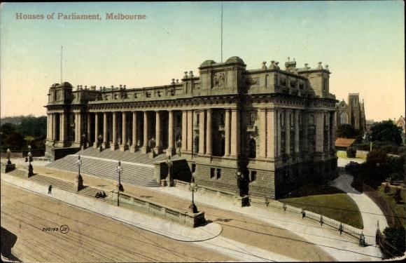 Ak Melbourne Australien, Houses of Parliament