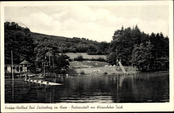 Ak Bad Lauterberg im Harz, Kneippheilbad, Badeanstalt am Wiesenbeker Teich