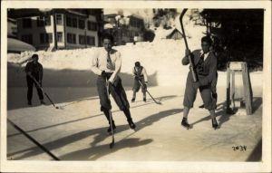 Foto Ak Bern Stadt Schweiz, Hockeyspieler