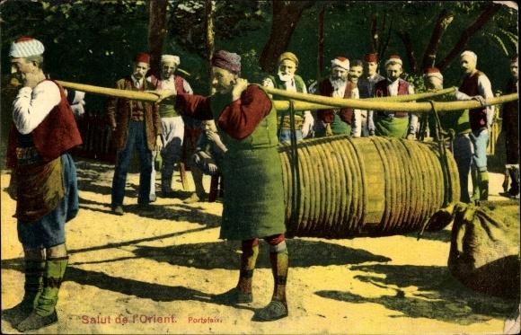 Ak Türkei, Wasserträger in der Türkei