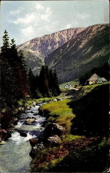 10 alte Ansichtskarten Malá Úpa Kleinaupa Reg. Königsgrätz, Schneekoppe