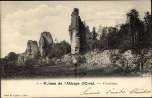 Ak Orval Namur Wallonien Belgien, Ruines de l'Abbaye d'Orval, Cuisines