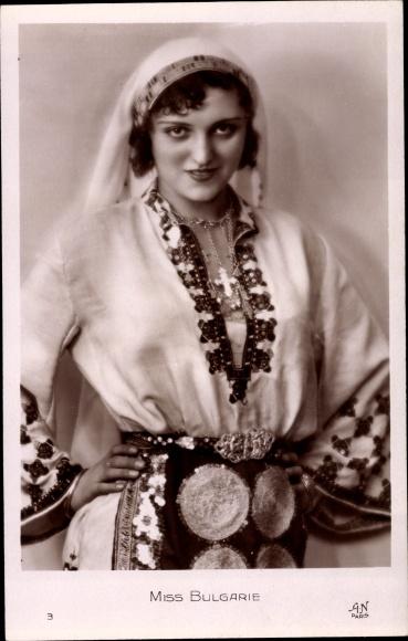 Ak Miss Bulgarie, Schönheitskönigin, Portrait