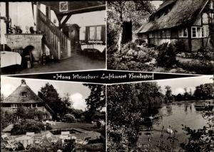 Ak Bondestorf in der Nordheide, Haus Meinsbur, Theodor Walter, Haus mit Reetdach