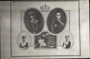 Ak König Albert I. von Belgien, Königin Elisabeth Gabriele von Belgien, Leopold, Charles, Marie Jose