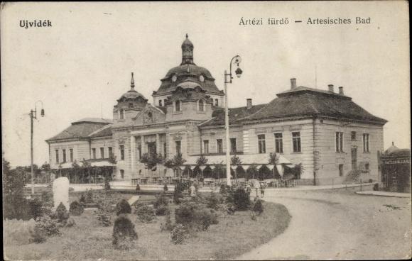 Ak Novi Sad Újvidék Neusatz Serbien, Artesisches Bad