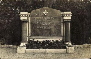 Ak Hammelburg im Tal der Fränkischen Saale Bayern, Denkmal französischer Kriegsgefangener