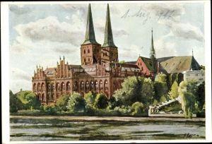 Künstler Ak Lübeck in Schleswig Holstein, Dom, Museum