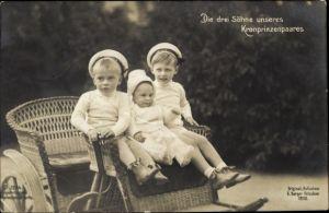 Ak Prinz Wilhelm von Preußen, Prinz Louis Ferdinand, Prinz Friedrich