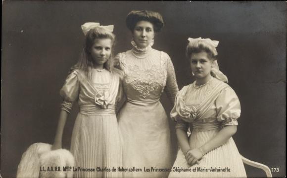 Ak Prinzessin Charles von Hohenzollern, Josephine von Belgien, Stephanie, Marie Antoinette