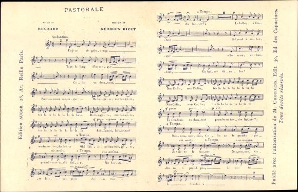 Lied Ak Pastorale, Regnard, Georges Bizet