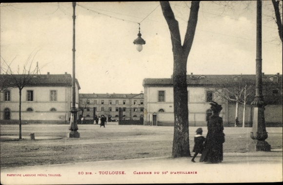 Ak Toulouse Haute Garonne, Caserne du 23e d'Artillerie